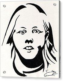 Ink Portrait Acrylic Print by Samantha Geernaert