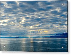 Inland Passage In Alaska Acrylic Print by Donald Fink