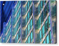 Inland Steel Building Acrylic Print by Raymond Kunst