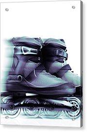 Inline Skates Rollerblades Artistic Dynamic Still Ife Acrylic Print by Oleksiy Maksymenko