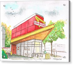 In'n Out Burger In San Francisco - Calfornia Acrylic Print