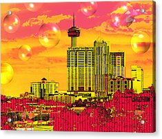 Inner City - Day Dreams Acrylic Print by Wendy J St Christopher