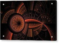 Acrylic Print featuring the digital art Inner Core by GJ Blackman