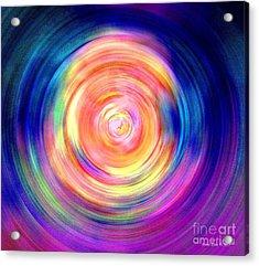 Inner Glow Abstract Art Acrylic Print
