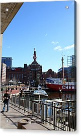 Inner Harbor At Baltimore Md - 12121 Acrylic Print by DC Photographer
