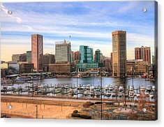 Inner Harbor Acrylic Print by JC Findley