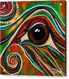 Inner Strength Spirit Eye Acrylic Print by Deborha Kerr