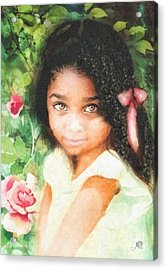 Innocence Acrylic Print by Mo T