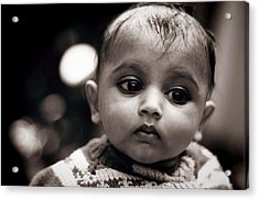 Innocence Acrylic Print by Money Sharma
