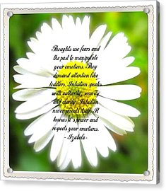Inpirational Quotes Acrylic Print