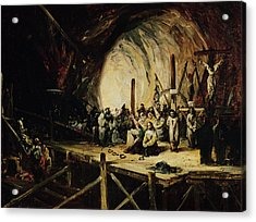 Inquisition Scene, 1851 Oil On Canvas Acrylic Print by Eugenio Lucas y Padilla