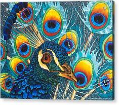 Insane Peacock Acrylic Print