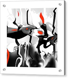 Acrylic Print featuring the digital art Insect  T  Sides by Bob Salo