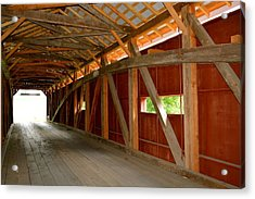 Inside A Covered Bridge Acrylic Print