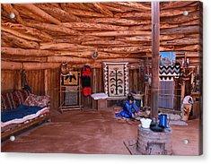 Inside A Navajo Home Acrylic Print by Diane Bohna