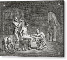 Inside An Egyptian Bathhouse, C.1820s Acrylic Print by Dominique Vivant Denon
