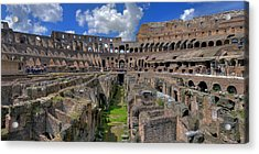 Inside Colosseum Acrylic Print by Patrick Jacquet