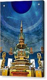 Inside Crystal Pagoda Acrylic Print by Suradej Chuephanich