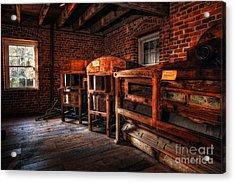 Inside Kerr Mill I - North Carolina Acrylic Print by Dan Carmichael