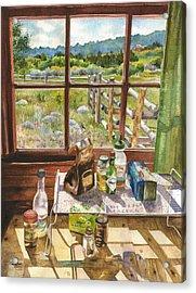 Inside My Cabin Acrylic Print by Anne Gifford