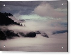 Inside Passage In The Mist Acrylic Print by Vicki Jauron