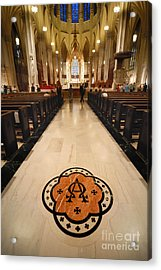 Inside St Patricks Cathedral New York City Acrylic Print by Amy Cicconi