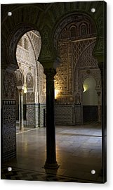 Inside The Alcazar Of Seville Acrylic Print