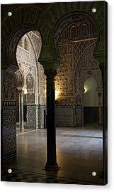Inside The Alcazar Of Seville Acrylic Print by Lorraine Devon Wilke