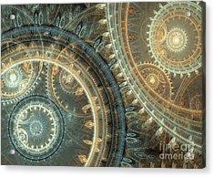Inside The Clock Acrylic Print by Martin Capek