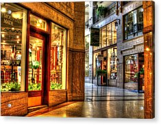 Inside The Grove Arcade Acrylic Print