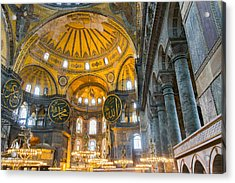 Inside The Hagia Sophia Istanbul Acrylic Print by For Ninety One Days