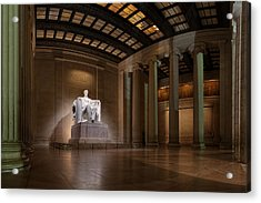 Inside The Lincoln Memorial Acrylic Print by Metro DC Photography