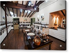 Acrylic Print featuring the photograph Inside The Oil And Vinegar Shop by Jeremy Farnsworth