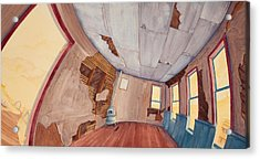 Acrylic Print featuring the painting Inside The Old School House IIi by Scott Kirby