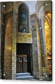 Inside The Rosary Basilica In Lourdes Acrylic Print by Graham Taylor