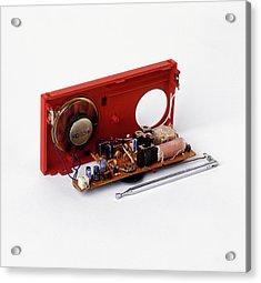 Insides Of A Portable Radio Acrylic Print by Dorling Kindersley/uig
