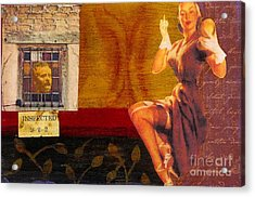 Acrylic Print featuring the mixed media Inspected by Desiree Paquette
