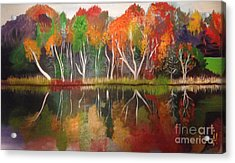 Inspiration Autumn Evening In Work Acrylic Print