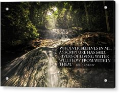 Acrylic Print featuring the photograph Inspiration Falls by Joshua Minso