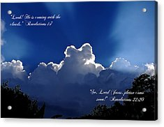 Inspirational Clouds Acrylic Print by Blair Wainman