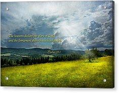 Inspirational - Eternal Hope - Psalms 19-1 Acrylic Print by Mike Savad