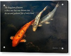 Inspirational - Gathering Fish Of Every Kind - Matthew 13-47 Acrylic Print