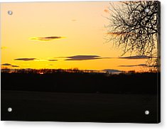 Acrylic Print featuring the photograph Inspirational Sunset  by Ann Murphy