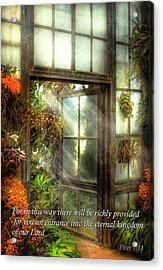 Inspirational - The Door To Paradise - Peter 1-11 Acrylic Print