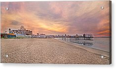 Inspirational Theater Old Orchard Beach  Acrylic Print by Betsy Knapp
