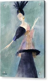 Inspired By Paul Poiret Fashion Illustration Art Print Acrylic Print by Beverly Brown Prints