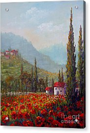 Inspired By Tuscany Acrylic Print