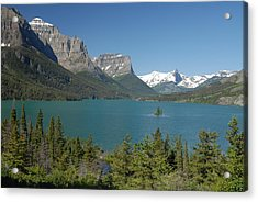 Inspiring View Of Glacier National Park Acrylic Print by Larry Moloney