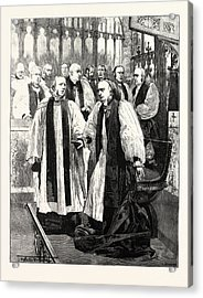 Installation Of The Archbishop Of York In York Minster Acrylic Print by English School