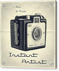 Instant Artist Acrylic Print by Edward Fielding
